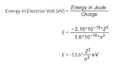 Energy in eV